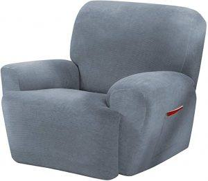 Maytex Collin Stretch 4 Piece Recliner Chair Furniture Cover Slipcover