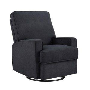 Newton Upholstered with Charcoal Glider Swivel Rocker