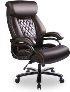 Bowthy Big and Tall Office Chair 400lbs Heavy Duty Ergonomic Computer Desk Chair