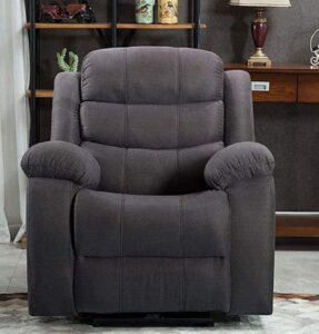 ICE ARMOR 99LCH8005-GRY Power USB Port Electric Pillow Top Arms Bedroom and Living Room Recliner Sofa Chair Gray