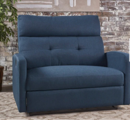 halima fabric 2 person recliner chair