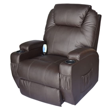 HomCom Deluxe Heated Vibrating PU Leather Recliner Review