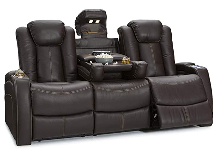 Lane Omega Leather Power theater Recliners