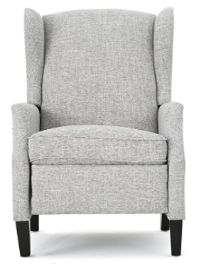 Christopher Knight Home Wescott Traditional Fabric Recliner grey