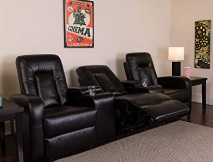 3 home theatre recliners by Flash Furniture